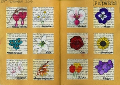 Journal Pages - Flowers
