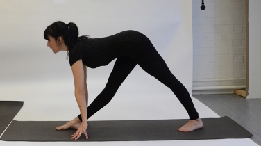 Parsvottanasana (without bricks)