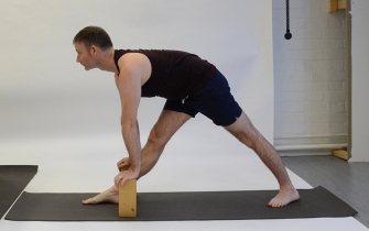 Parsvottanasana (with bricks)