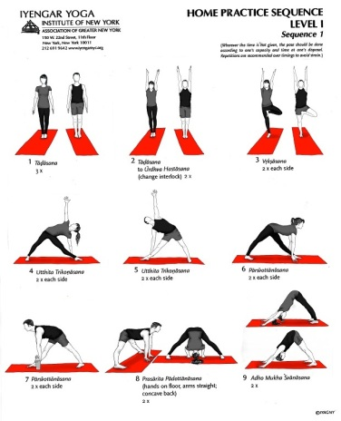 Iyengar Yoga Practice Sequence - Mock Up with Illustrations